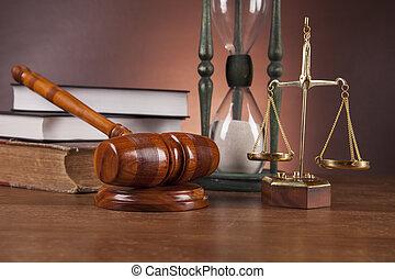 firma, madeira, lei, escrivaninha