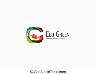 firma, modern, design, glänzend, sauber, logo