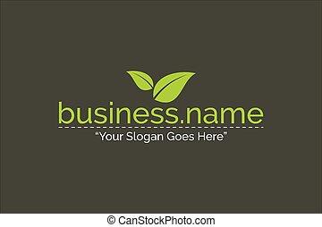 firma, natur farve, vektor, grønne, skabelon, logo