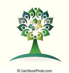 firma, natur, sammenslutning, folk, træ, sundhed, logo
