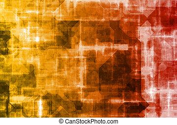 firma, system, abstrakt, baggrund
