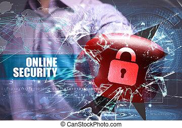 firma, teknologi, internet, og, netværk, security., online, garanti