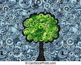 firma, træ