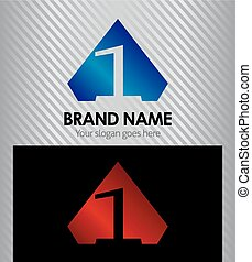 firma, zählen, 1, logo, ikone
