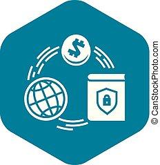 firmanavnet, finans, enkel, globale, ikon, cirkel