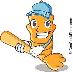 firmanavnet, karakter, cartoon, baseball, rejer, spille
