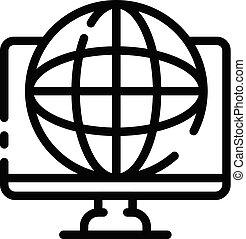 firmanavnet, udkast, globale, system, ikon, finans