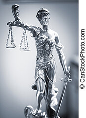 firme, bureau, justice, légal, statue, droit & loi