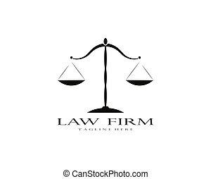 firme, droit & loi, logo, vecteur