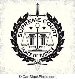 firme, logo, droit & loi
