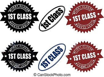 First 1st Class rubber stamps
