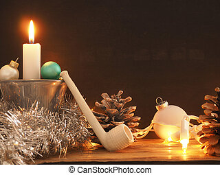 First Advent, one candle burning