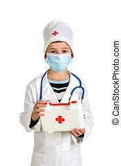 first-aid αποσκευή , μέσα , ο , ακάνθουρος , ανάμιξη