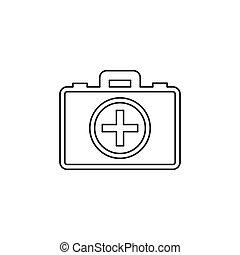 first aid bag icon - medical box
