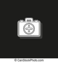 first aid bag icon - medical box - emergency icon - health care