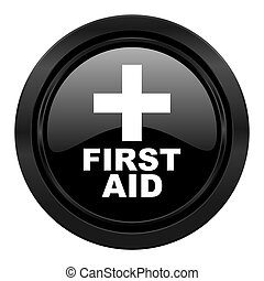 first aid black icon