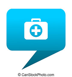 first aid blue bubble icon
