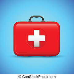 First Aid Box - illustration of first aid box on medical...