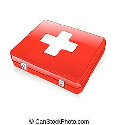 first aid box - illustration of isolated first aid box