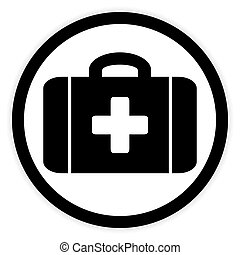 First aid button.