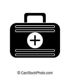 first aid case medical emergency pictogram