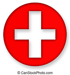 First Aid Icon Symbol over White Background