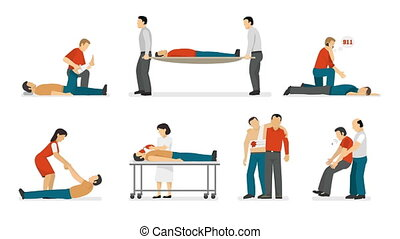 First aid emergency treatment video animation footage