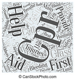 first aid for hunting safety dlvy nicheblowercom Word Cloud Concept