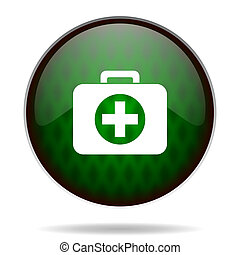 first aid green internet icon