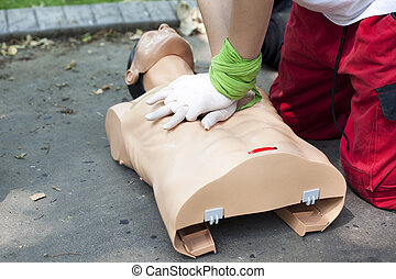 First aid - heart massage