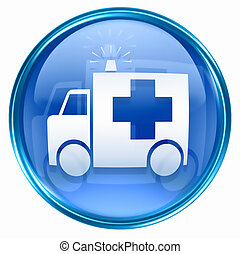 First aid icon blue, isolated on white background