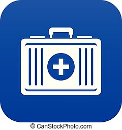 First aid icon digital blue