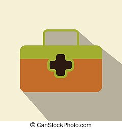 First aid Icon in trendy flat style isolated on background. Medical symbol for your web site design, logo, app, UI. Vector illustration