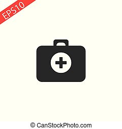 First aid Icon in trendy flat style isolated on grey background. Medical symbol for your web site design, logo, app, UI. Vector illustration, EPS10.