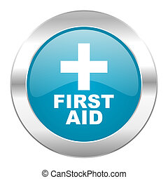 first aid internet blue icon
