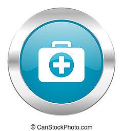 first aid internet blue icon