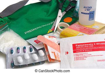 first-aid készlet