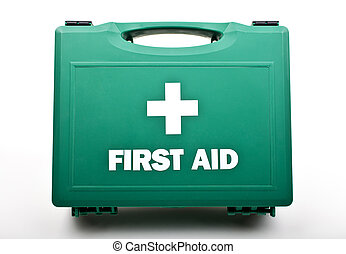 First Aid Kit - A First Aid Box on a white background.