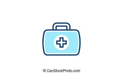 First aid kit animated icon