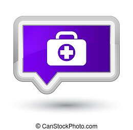First aid kit bag icon prime purple banner button