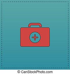 first aid kit computer symbol