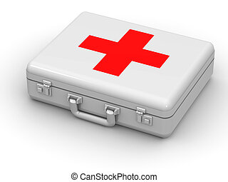 First aid kit. 3d