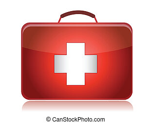 First aid kit illustration design isolated on white...