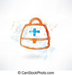 first aid kit grunge icon