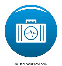 First aid kit icon blue