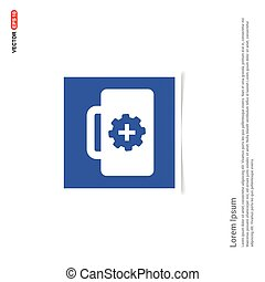 First aid kit icon - Blue photo Frame
