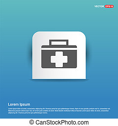 First aid kit icon - Blue Sticker button
