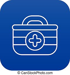 First aid kit icon blue vector