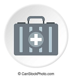 First aid kit icon circle