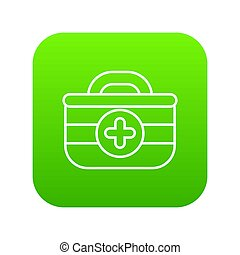 First aid kit icon green